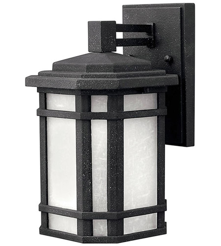 Hinkley Lighting Cherry Creek 1 Light Outdoor Wall Lantern in Vintage Black 1270VK