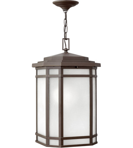 Hinkley 1272OZ-WH Cherry Creek 1 Light 12 inch Oil Rubbed Bronze Outdoor Hanging Light in Incandescent photo