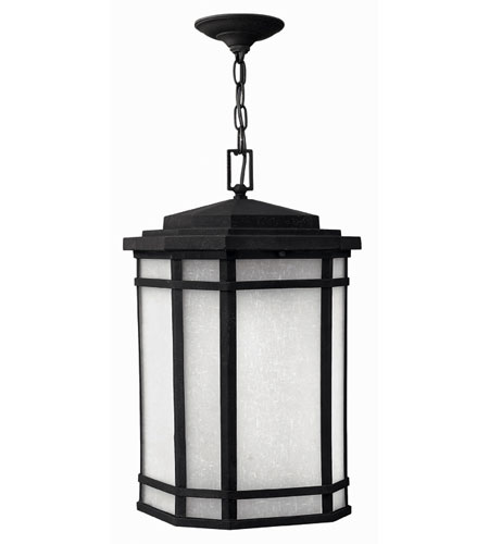 Hinkley Lighting Cherry Creek 1 Light Outdoor Hanging Lantern in Vintage Black 1272VK-ESDS