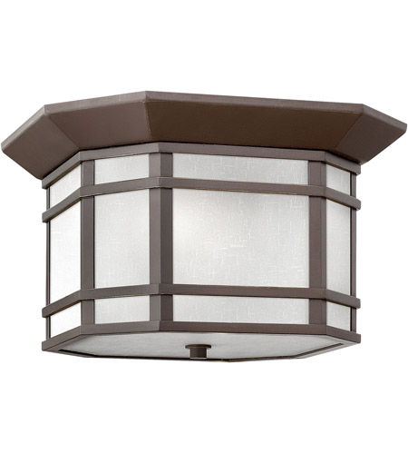Hinkley 1273OZ-WH Cherry Creek 2 Light 12 inch Oil Rubbed Bronze Outdoor Flush Mount in Incandescent photo
