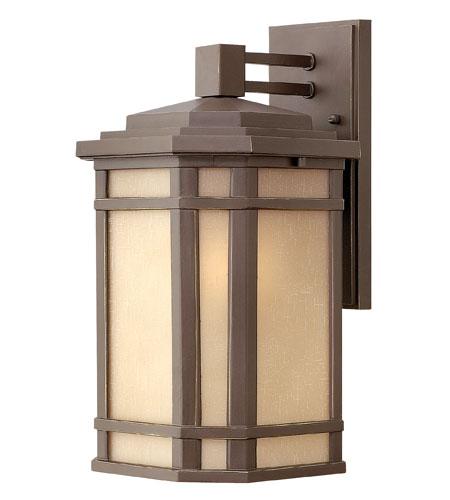 Hinkley Lighting Cherry Creek 1 Light Outdoor Wall Lantern in Oil Rubbed Bronze 1274OZ-ES