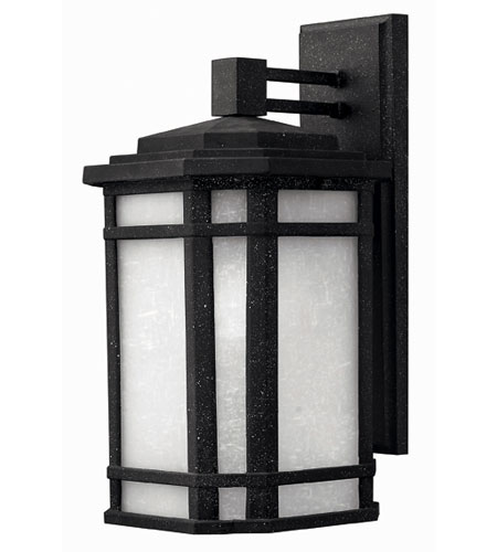 Hinkley Lighting Cherry Creek 1 Light Outdoor Wall Lantern in Vintage Black 1274VK-ES photo