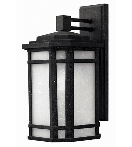 Hinkley Lighting Cherry Creek 1 Light Outdoor Wall Lantern in Vintage Black 1274VK-ES