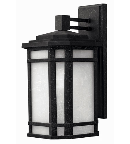 Hinkley Lighting Cherry Creek 1 Light Outdoor Wall Lantern in Vintage Black 1274VK-ESDS