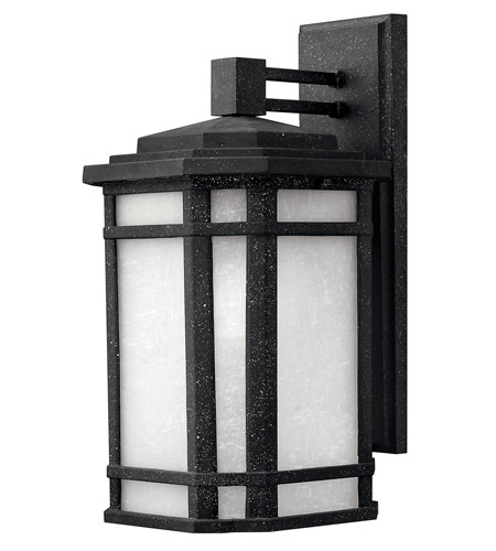 Hinkley 1274VK-GU24 Cherry Creek 1 Light 15 inch Vintage Black Outdoor Wall in White Linen, GU24 photo