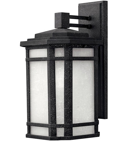 Hinkley Lighting Cherry Creek 1 Light Outdoor Wall Lantern in Vintage Black 1274VK-LED photo