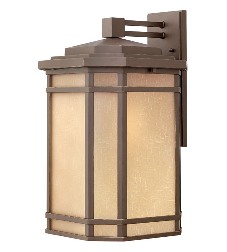 Hinkley Lighting Cherry Creek 1 Light Outdoor Wall Lantern in Oil Rubbed Bronze 1275OZ-DS