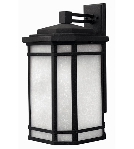 Hinkley Lighting Cherry Creek 1 Light Outdoor Wall Lantern in Vintage Black 1275VK-ES