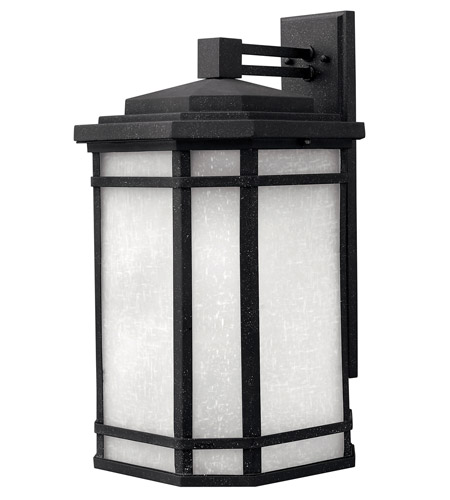 Hinkley 1275VK-GU24 Cherry Creek 1 Light 21 inch Vintage Black Outdoor Wall in White Linen, GU24 photo