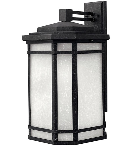 Hinkley Lighting Cherry Creek 1 Light Outdoor Wall Lantern in Vintage Black 1275VK-LED