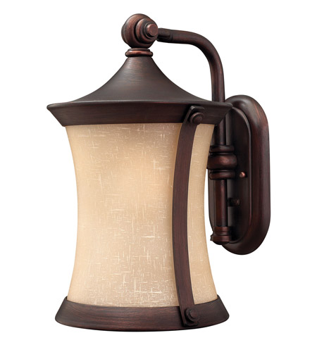 Hinkley Lighting Thistledown 1 Light Outdoor Wall Lantern in Victorian Bronze 1284VZ