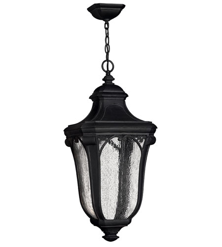 Hinkley Lighting Trafalgar 1 Light Outdoor Hanging Lantern in Museum Black 1312MB-EST