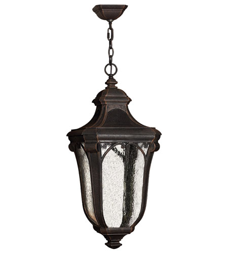 Hinkley Lighting Trafalgar 1 Light Outdoor Hanging Lantern in Mocha 1312MO-ES