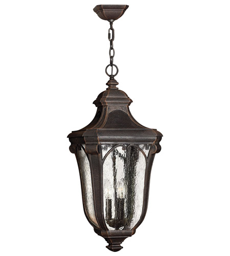 Hinkley Lighting Trafalgar 1 Light GU24 CFL Outdoor Hanging in Mocha 1312MO-GU24
