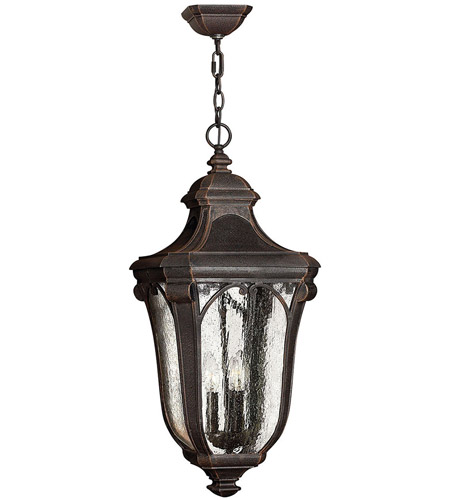 Hinkley 1312MO Trafalgar 3 Light 12 inch Mocha Outdoor Hanging Light in Incandescent photo