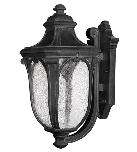 Hinkley Lighting Trafalgar 1 Light Outdoor Wall Lantern in Museum Black 1314MB-ES
