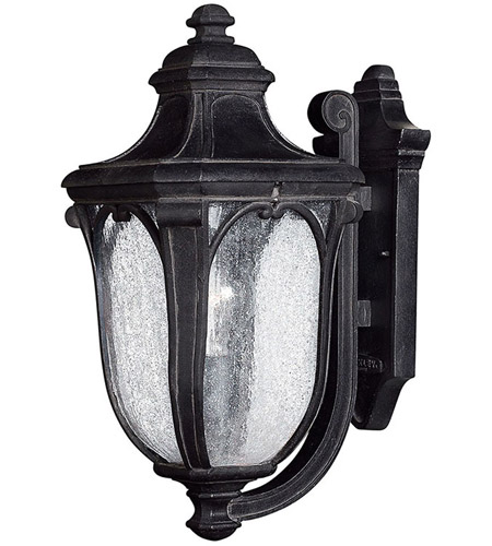 Hinkley Lighting Trafalgar 1 Light Outdoor Wall Lantern in Museum Black 1314MB
