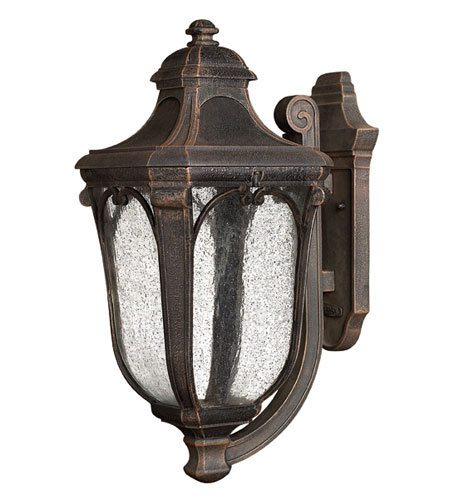 Hinkley Lighting Trafalgar 1 Light Outdoor Wall Lantern in Mocha 1314MO-EST