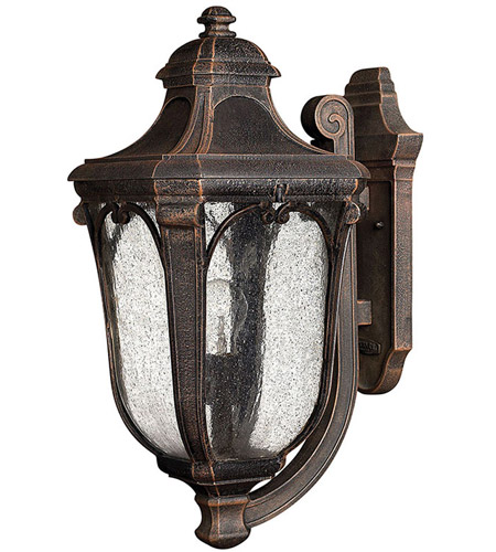 Hinkley Lighting Trafalgar 1 Light Outdoor Wall Lantern in Mocha 1314MO