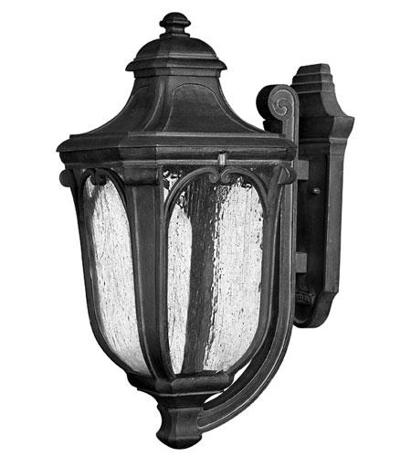 Hinkley Lighting Trafalgar 1 Light Outdoor Wall Lantern in Museum Black 1315MB-ES