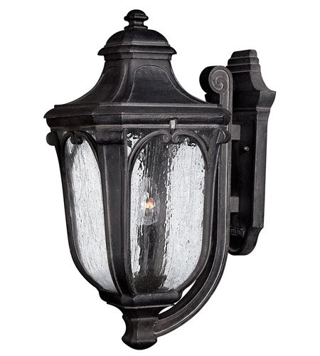 Hinkley Lighting Trafalgar 1 Light GU24 CFL Outdoor Wall in Museum Black 1315MB-GU24