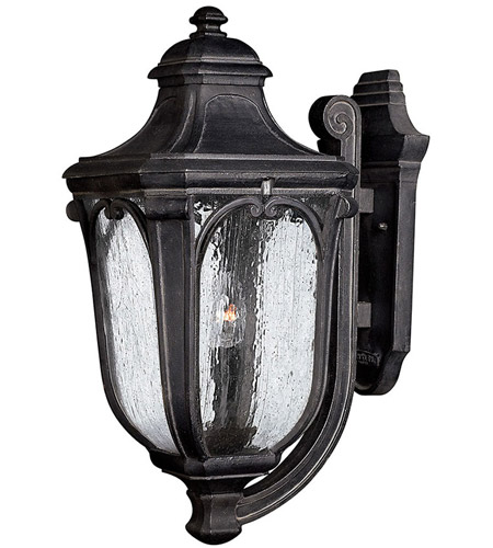 Hinkley 1315MB Trafalgar 3 Light 22 inch Museum Black Outdoor Wall Mount in Incandescent photo