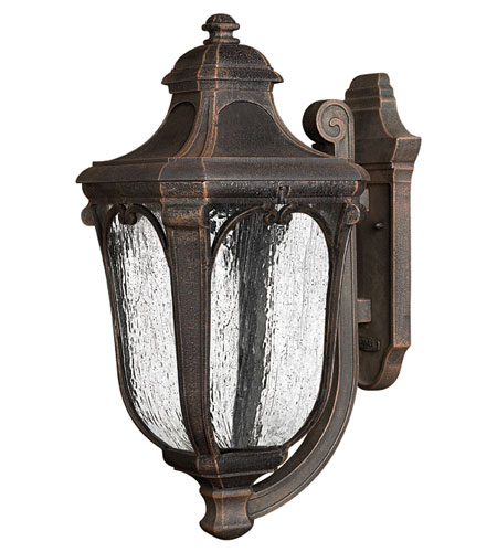 Hinkley Lighting Trafalgar 1 Light Outdoor Wall Lantern in Mocha 1315MO-ES photo