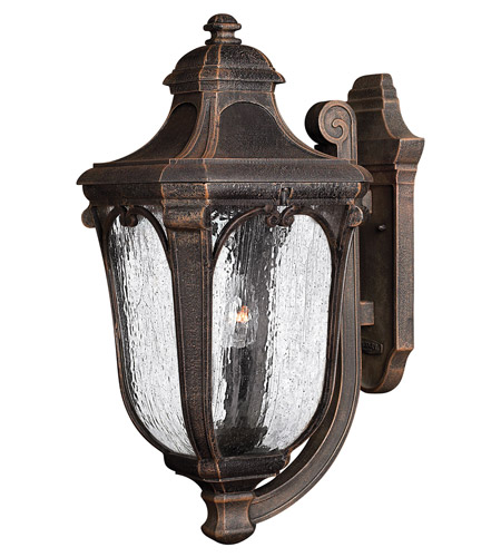 Hinkley Lighting Trafalgar 1 Light GU24 CFL Outdoor Wall in Mocha 1315MO-GU24 photo