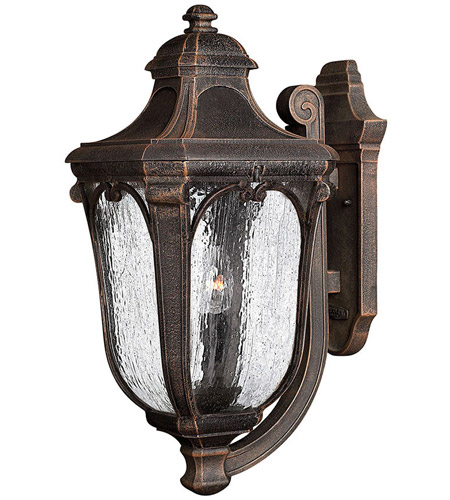Hinkley Lighting Trafalgar 3 Light Outdoor Wall Lantern in Mocha 1315MO