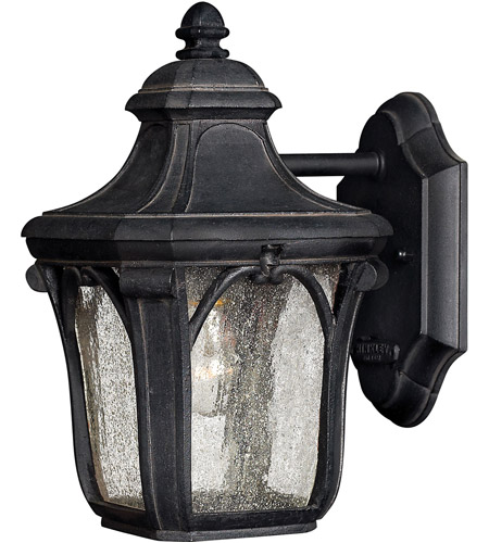 Hinkley 1316MB-LED Trafalgar 1 Light 10 inch Museum Black Outdoor Wall in LED, Clear Seedy Glass photo