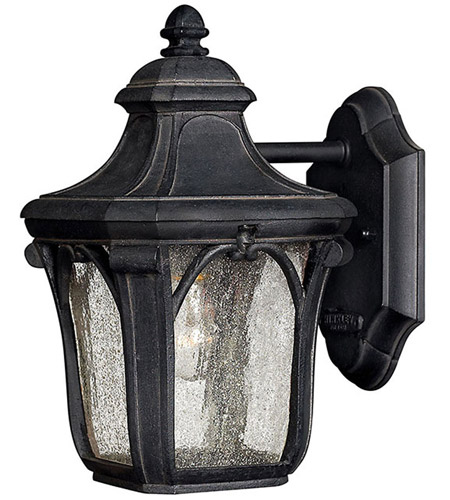Hinkley Lighting Trafalgar 1 Light Outdoor Wall Lantern in Museum Black 1316MB photo