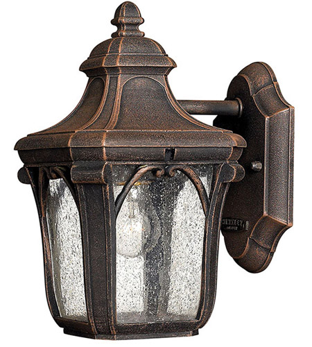 Hinkley 1316MO Trafalgar 1 Light 10 inch Mocha Outdoor Mini Wall Mount in Incandescent photo
