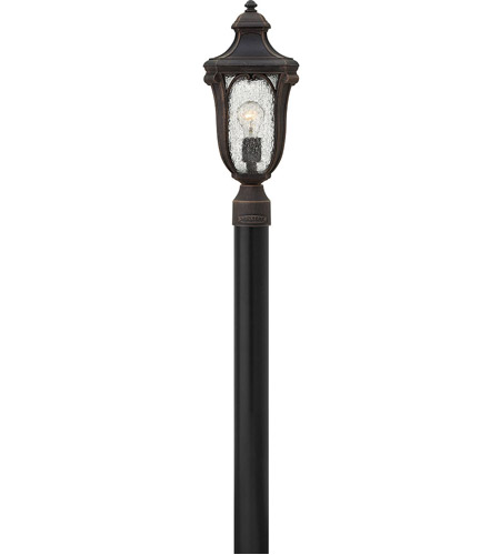 Hinkley 1317MO Trafalgar 1 Light 19 inch Mocha Outdoor Post Mount, Clear Seedy Glass photo