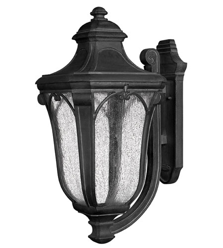 Hinkley Lighting Trafalgar 1 Light Outdoor Wall Lantern in Museum Black 1319MB-ES