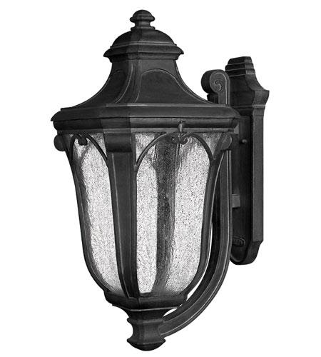 Hinkley Lighting Trafalgar 1 Light Outdoor Wall Lantern in Museum Black 1319MB-EST