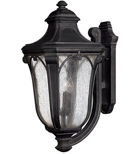 Hinkley 1319MB Trafalgar 3 Light 27 inch Museum Black Outdoor Wall Lantern in Incandescent photo