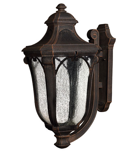 Hinkley Lighting Trafalgar 1 Light Outdoor Wall Lantern in Mocha 1319MO-ES photo