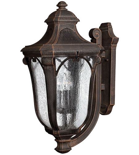 Hinkley 1319MO Trafalgar 3 Light 27 inch Mocha Outdoor Wall Lantern in Incandescent photo
