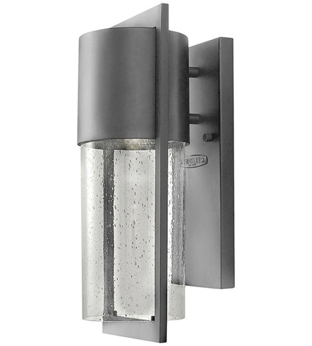 Hinkley 1320HE-LED Shelter LED 16 inch Hematite Outdoor Wall Mount photo