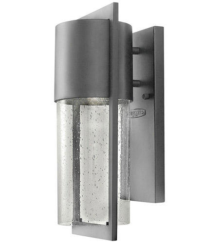 Hinkley Lighting Dwell 1 Light Outdoor Wall Lantern in Hematite 1320HE