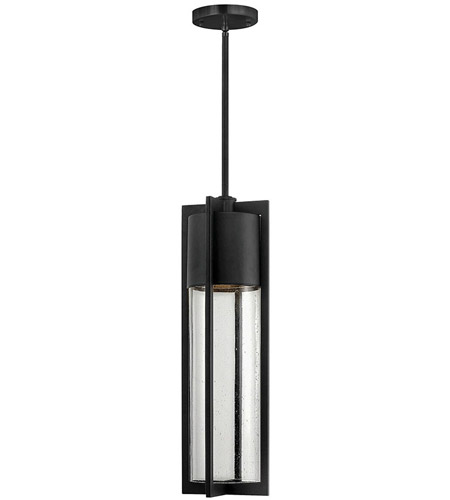Hinkley Lighting Dwell 1 Light Outdoor Hanging Lantern in Black 1322BK-LED