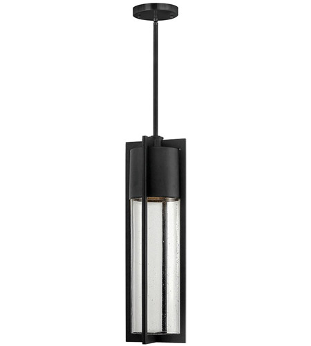 Hinkley 1322BK Shelter 1 Light 6 inch Black Outdoor Hanging Light in Incandescent photo