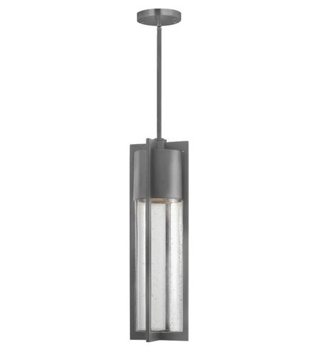 Hinkley Lighting Dwell 1 Light Outdoor Hanging Lantern in Hematite 1322HE-ES