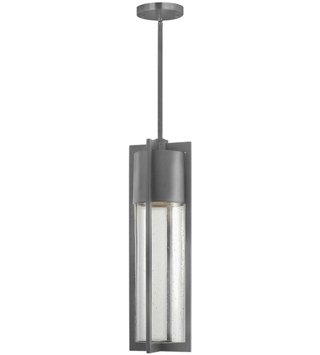 Hinkley Lighting Dwell 1 Light Outdoor Hanging Lantern in Hematite 1322HE-LED