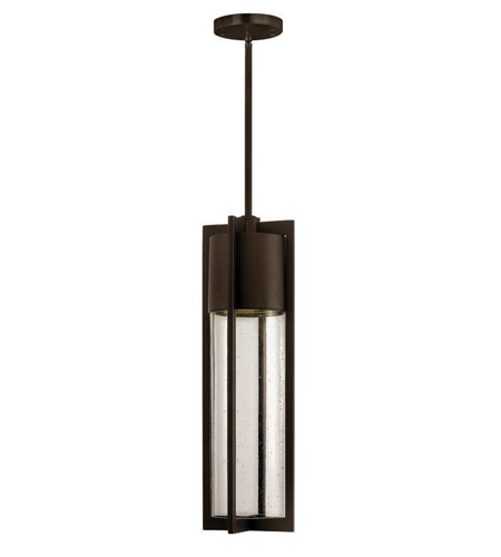 Hinkley Lighting Dwell 1 Light Outdoor Hanging Lantern in Buckeye Bronze 1322KZ-ES