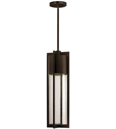 Hinkley Lighting Dwell 1 Light Outdoor Hanging Lantern in Buckeye Bronze 1322KZ-LED