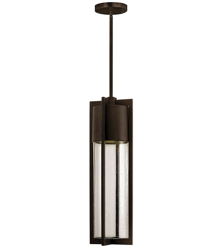 Hinkley Lighting Dwell 1 Light Outdoor Hanging Lantern in Buckeye Bronze 1322KZ