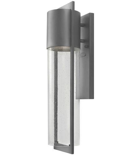 Hinkley Lighting Dwell 1 Light Outdoor Wall Lantern in Hematite 1324HE