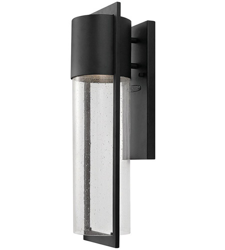 Hinkley 1324BK Shelter 1 Light 21 inch Black Outdoor Wall Mount in Incandescent photo