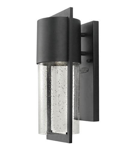 Hinkley Lighting Dwell 1 Light Outdoor Wall Lantern in Black 1325BK-ES